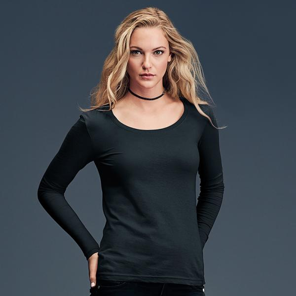 Anvil Womens Featherweight Long Sleeve Sheer Scoop T-Shirt